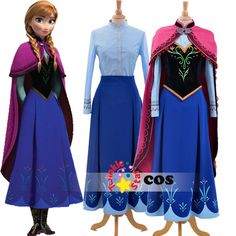 product image Adult Anna Costume, Princess Anna Costume, Anna Frozen Costume, Princess Elsa Dress, Frozen Elsa Dress, Anna Dress, Disney Princess Dresses, Adult Costumes, Costumes For Women