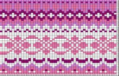 This is a pattern for a knit sweater - maybe this could be repurposed into a peyote/bead weaving pattern? Or if I simplified it, and used extruded squares of polymer clay, could I turn this into a cane? Probably too crazy to actually work Fair Isle Knitting Patterns, Knitting Charts, Loom Patterns, Knitting Designs, Knitting Stitches, Beading Patterns, Crochet Patterns, Motif Fair Isle, Fair Isle Chart