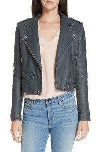 Short Leather Jacket, Best Leather Jackets, Leather Blazer, Lambskin Leather, Black Leather, Black Panther Costume, Nordstrom Jackets, Celebrity Outfits, Cool Outfits