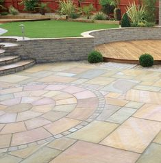 "Determine more details on ""patio pavers diy"". Look at our internet site. Outdoor Patio Pavers, Backyard Landscaping, Circular Patio, Garden Paving, Garden Paths, Patio Design, Garden Design, Paving Slabs, Sandstone Paving"