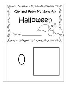 Halloween themed booklet to make featuring numbers and sets matching, 0-10. Cut out the sets (color if desired) and paste next to the appropriate numerals. 9 pages