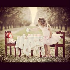 "A tea party shoot: putting it on my summer ""to shoot"" list with Selah!"