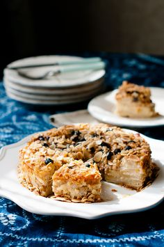 Almond Pear Blueberry Cake