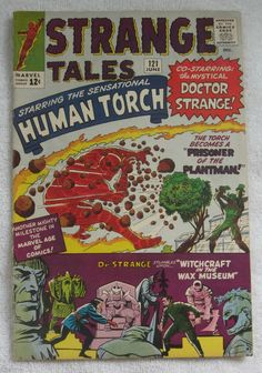 Strange Tales (Jun Marvel) Featuring The Human Torch & Dr. Strange Cover Art by Jack Kirby Strange Tales, Doctor Strange, Comic Book Artists, Comic Book Characters, Marvel Comic Books, Marvel Comics, Marvel Villains, Marvel Vs, Silver Age Comics