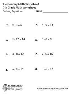 Pre-Algebra Review Worksheet - Free Printable Educational ...