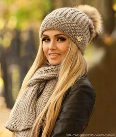 Комплект спицами - шапка и шарф
