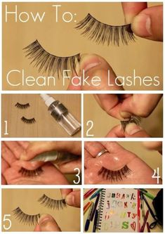 How to clean fake lashes ... because they are over and over again with clumped up makeup is awful and scares little children. - #again #because #clean #clumped #lashes #makeup- #Genel