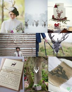 Stag Themed Winter Wedding Ideas from The Wedding Community