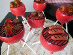 Lil grills cake pops by Let Them Eat Cake Pops ~ www.LetsEatCakePops.com #grillcakepops #bbq #burgers #hotdogs