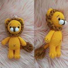 Amigurumi-little-lion-Bau - crochet patterns Knitted Dolls, Crochet Toys, Crochet Baby, Amigurumi Toys, Amigurumi Patterns, Crochet Patterns, Little Puppies, Cute Toys, Crochet Stitches