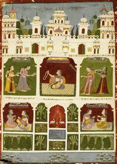 An illustration to a Ragamala series: Kamod Ragini, Bundelkhand, Datia, 18th century