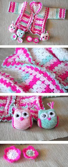 crochet for baby...pattern here http://www.tejiendoperu.com/crochet/rop%C3%B3n-o-chaquetita-para-beb%C3%A9/