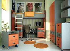 Teen Bedroom dont like the color but love the idea
