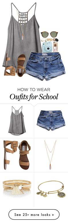 """I made a lot of drafts so I'll be posting those because I m really busy with school lately"" by leawhite on Polyvore featuring RVCA, Abercrombie & Fitch, Alex and Ani, Casetify, River Island, NARS Cosmetics, Yves Saint Laurent, Steve Madden and Tiffany & Co."