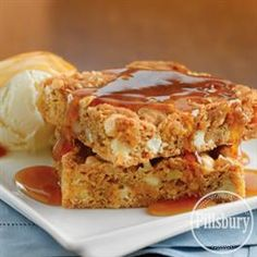 Walnut Blondie with Maple Butter Sauce from Pillsbury® Baking