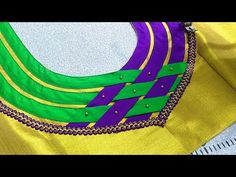 Blouse Design - YouTube Churidhar Neck Designs, Salwar Neck Designs, Saree Blouse Neck Designs, Neck Designs For Suits, Kurta Neck Design, Dress Neck Designs, Patch Work Blouse Designs, Kids Blouse Designs, Simple Blouse Designs