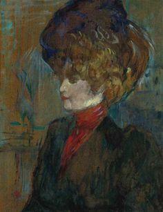 Henri de Toulouse-Lautrec - Tête de lady anglaise, Oil on panel Henri De Toulouse Lautrec, Art Gallery, Edgar Degas, Art Moderne, Art For Art Sake, Renoir, French Artists, Claude Monet, Portrait Art