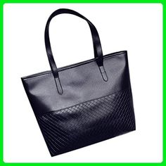 Handbag,Lisingtool Women Handbag Shoulder Tote Satchel Large Messenger Bag Purse (Black) - Wallets (*Amazon Partner-Link)
