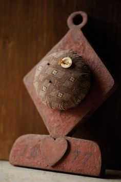 Antique Fabric Hanging Pincushion - From Our Hands Show