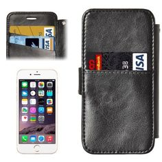 Black 2 in 1 Wallet Leather Magnetic iPhone 6 & Case comes with a Free Screen Protector, Free Splash Resistant Beach Bag and Free Delivery in Australia Iphone Leather Case, Leather Wallet, Iphone 6, Iphone Cases, 2 In, Screen Protector, Magnets, Bags, Handbags