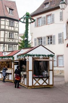 "This Christmas Market stand is from our feature ""Christmas in Colmar"""
