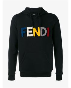 FENDI Wool And Shearling Hooded Sweatshirt. #fendi #cloth #