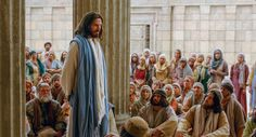 Mateo 21:23–32, Cristo enseña en el templo