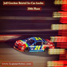 Another poor outcome after running as high as 2nd place.  Two late race pit stops resulting from a loose wheel mired Jeff back to 20th place.  Add this to the list of disappointing finishes in recent weeks.  Click the photo to listen to Jeff's in-car audio from the Irwin Tools Night Race.  http://www.scannerbytes.com/2015/08/23/jeff-gordon-bristol-night-race-in-car-audio/
