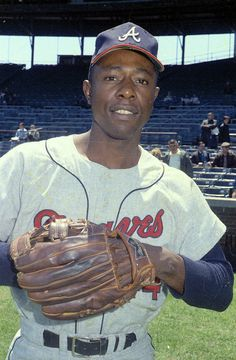 Hank Aaron. We served on a served on a committee in Atlanta, GA.