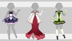 Dress Adopt Set 9 (3/3 Open) by VioletAether.deviantart.com on @DeviantArt