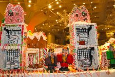 Don't mess with Gingerbread Lane at NYSCI -- these Nutcrackers are watching you!