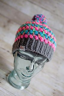 Cupcake Puff Stitch Crochet Hat by Julie Schappert / Jules Loves Yarn