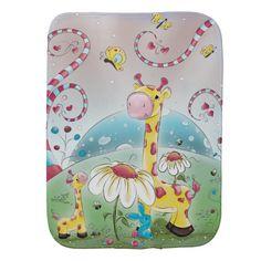 Giraffes In Wonderland Burp Cloth