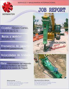 Serminter, venta de martillo hidráulico modelo V-32 marca Montabert a Grupo Carso