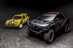 What a difference... Peugeot 2008 DKR #Dakar2015 and it's grand-daddy....