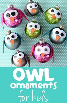 Super easy and super awesome DIY owl tree ornaments for kids.  I love them!!