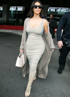 Kim Kardashian in a Mark Wong dress.