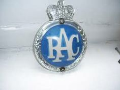 ….1960's RAC car badge - we had one on the front of our Vauxhall Victor
