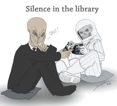 Silence in the library - Dr. Who (by Sorephene on Deviant Art)