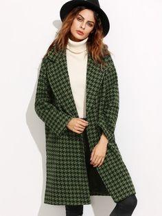 Damen Mantel 2017 mit verstecker Knopf in Grün