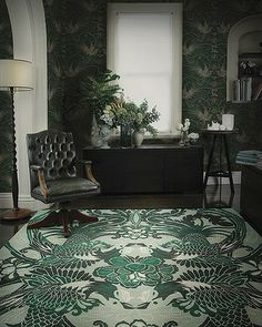 An adaptation of this Night Bird rug from the Deco Collection by Catherine Martin