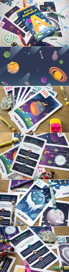 Help Your Kids Explore Space With These Adorable Flashcards — The Dieline | Packaging & Branding Design & Innovation News