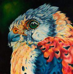 American Kestrel Original Painting by Claudelle Girard