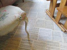DIY music sheets covered wall - Google zoeken