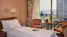 Habitación, Vista Mar. Viña del Mar #Vinadelmar #hsmchile #tourism #turismo #hotel #twin #room #beach #sea