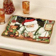 Santas Workshop Rectangular Holiday Serving Platter