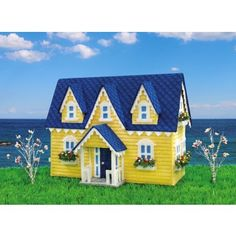 Mary Maxim - Summer Cottage Plastic Canvas Kit - Plastic Canvas Kits - Plastic Canvas - Crafts