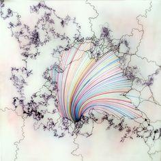 Shane McAdams Ball Point Pen Paintings