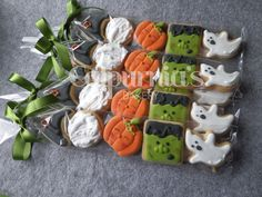 Halloween decorated cookies Halloween Cookies Decorated, Decorated Cookies, Halloween Decorations, Cookie Decorating, Desserts, Food, Frosted Cookies, Meal, Deserts