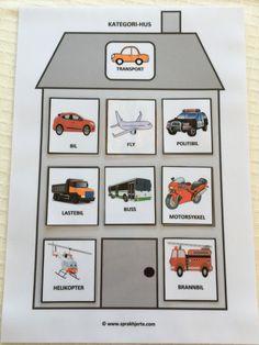 Kategori-hus – Språkhjerte English Activities, Book Activities, Toddler Activities, Pictogram, Life Cycles, Montessori, Literacy, Preschool, Language